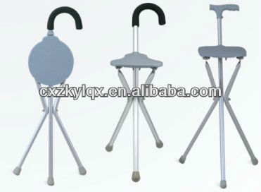 OEM Durable Aluminum Walking Cane with chair function