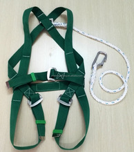 full body safety harness with lanyard/hanging safety belt for construction easy wear