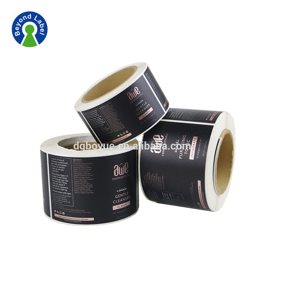 Waterproof Self Adhesive Customized Cosmetic Labels Stickers Printing