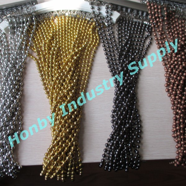Colored Sparking Ball Chain Metal Bead Curtain