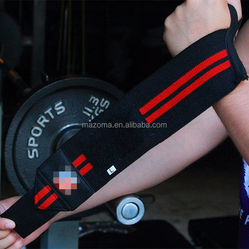 Gym fitness powerlifting weight lifting wrist wraps