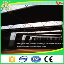 Strong Wind Resistance 2 Layer Sunshading Plastic Film Medical Plants 100% Blackout Light Deprivation Greenhouse
