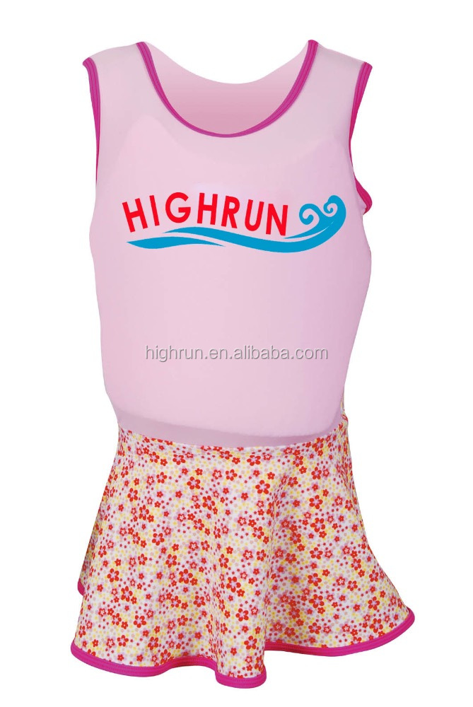 Colourful Printed Girl's Swimming Suit