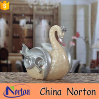 artistic swan cup holder wedding favor glass bubble candle holder NTRS-C007X