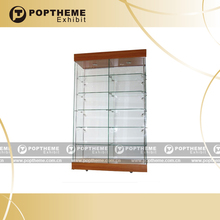Guangzhou China manufacture corner Wooden glass display cabinet/stand