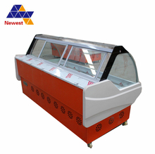 High quality seafood display case factory sale,supermarket deli case,cooked food freezer
