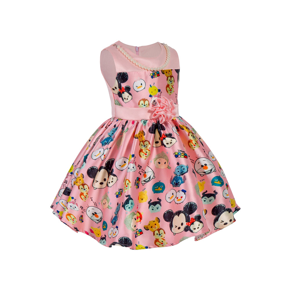 Cute Dreses for Girls Summer Fashion Wear Design with Printed Pattern