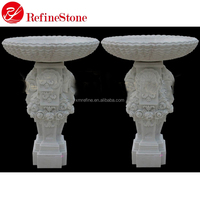 western style Carving marble garden flowerpot