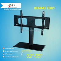 Glass and Metal lcd tv stand 32-55 inch lcd tv table mount