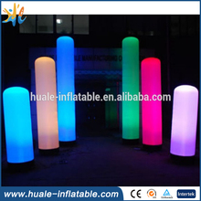 Advertising inflatable led lighting cone, inflatable Led tube for decoration