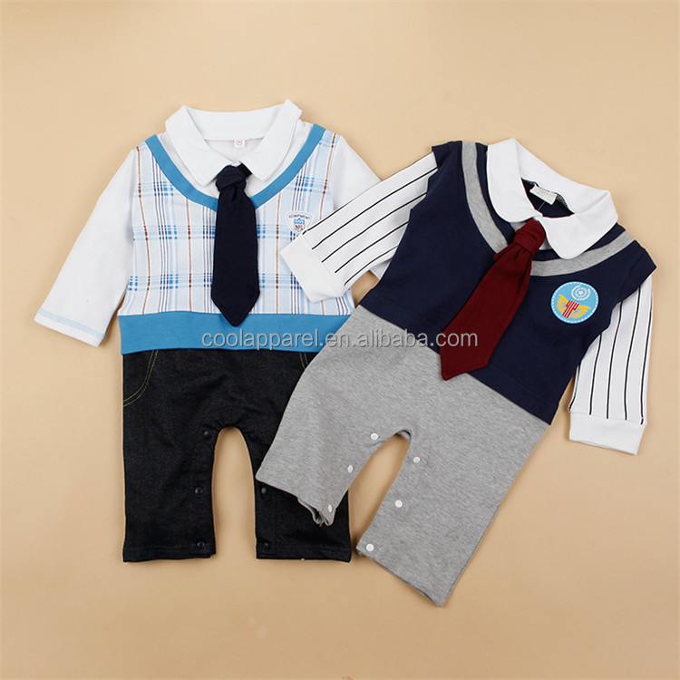 long sleeve baby boy clothes romper uniform birthday baby boy dress