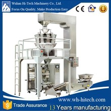 multi heads weighing filling vertical automatic granule snacks packing machines