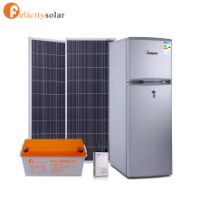 182L double doors whole sale DC solar refrigerator fridge for solar power home system