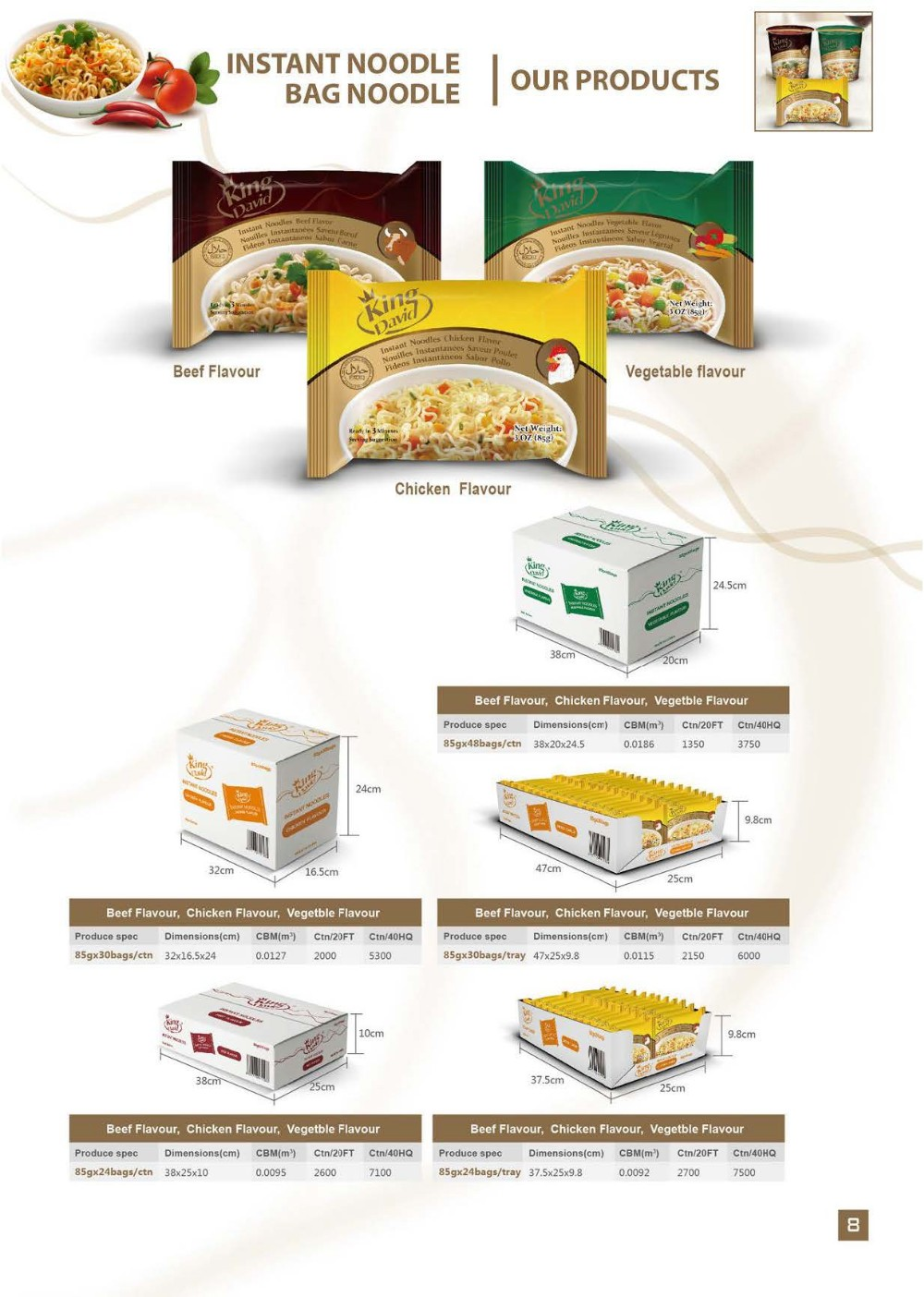 Noodles Product Type and Cup Packaging Instant Noodles