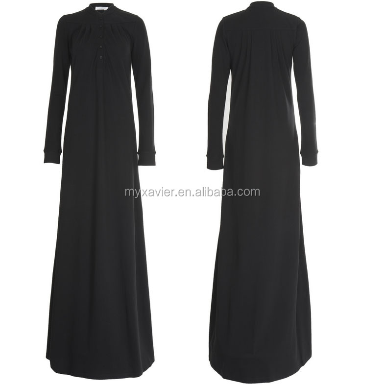 Wholesale abaya dubai Subtle pleating on the front & back of the bodice abaya online neat black abaya