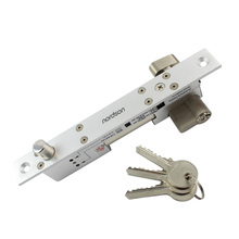 Micro narrow frame dead electric bolt lock with cylinder and emergency key
