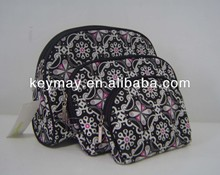 Promotional three piece set cosmetic bag
