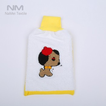 2017 Hot Sale Disposable Adult Bath Kids Bath Animal Bath Mitt