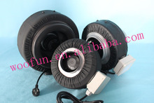 Hydroponic 4'' inline fan for exhaust odor/air fresh