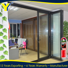 High quality double glazed heat insulated aluminium 3 panel lowes sliding french doors exterior