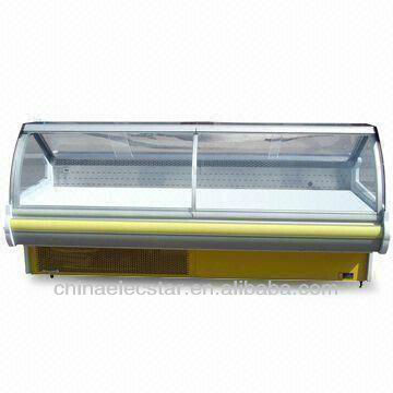 lift up Curved Glass Serve Over Counters,supermarket refrigerated equipment