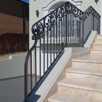 cheap price wrought iron handrails outdoor stairs