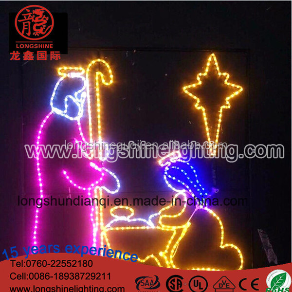 Wholesales Christmas Light Nativity Manger Scene Luces De Navidad Outdoor Decoracion