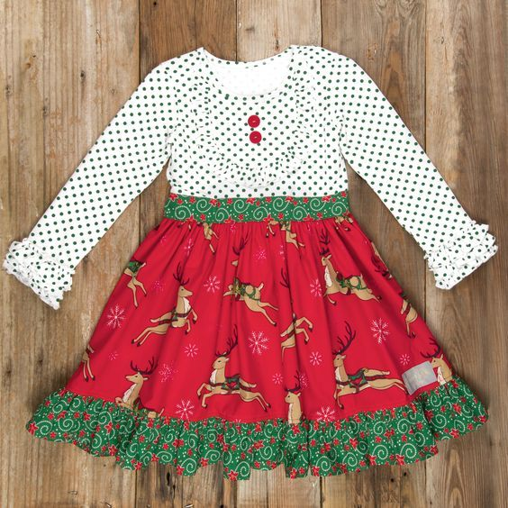 Wholesale Baby Girls Fall winter clothes Toddler Holiday dress Children Christmas Boutique dresses