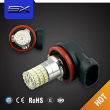 New hot 75mm led fog lamp, auto led fog light with double color cob angel eyes