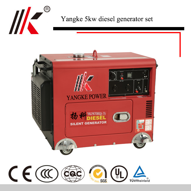 5KVA SMALL SILENT DIESEL GENERATOR WITH JET ENGING DC ALTERNATOR