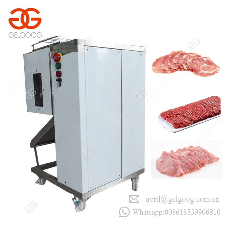 Professional Commercial Small Fresh Meat Slicer Goat Cube Dicer Beef Slicing Cooked Chicken Cutter Meat Cutting Machine Price