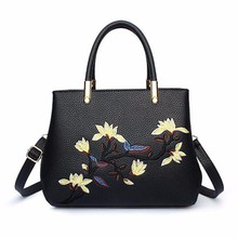 Manufacturers fashion bags flowers printing ladies handbags in guangzhou