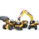 TongLi580/huina rc car outside 23channel remote control toys excavator toy metal rc construction vehicles digger
