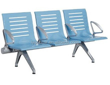 Row chairs for airport/hospital/salon/public waiting chair/stainless steel