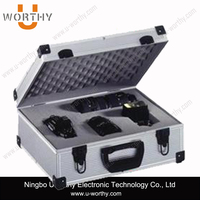 Aluminum Tool Case with Foam for Camera, Coins, Storage, Travel, Watches