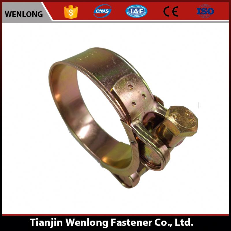 Brass Fuel Hose Clamp Fasteners For Water Pipe