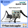 Quick706w Automatic 2 In 1 Hot Air Soldering Rework Station For Mobile Phone Repair