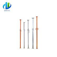 Hot dipped galvanized scaffold strut shoring construction jack adjustable steel prop scaffolding used metal props hydraulic pro