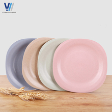 Wholesale wheat fiber dinnerware reusable hard plastic dinner plates