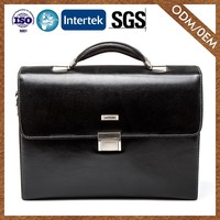 Supplier Fashionable Custom Fitted Cowhide Fashion Designs Stylish Briefcase For Men