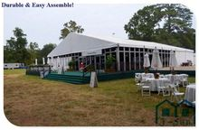Economical big profole T-Sun pyramid tent use for hot with cassette floor system, max loading 25kg per square meter