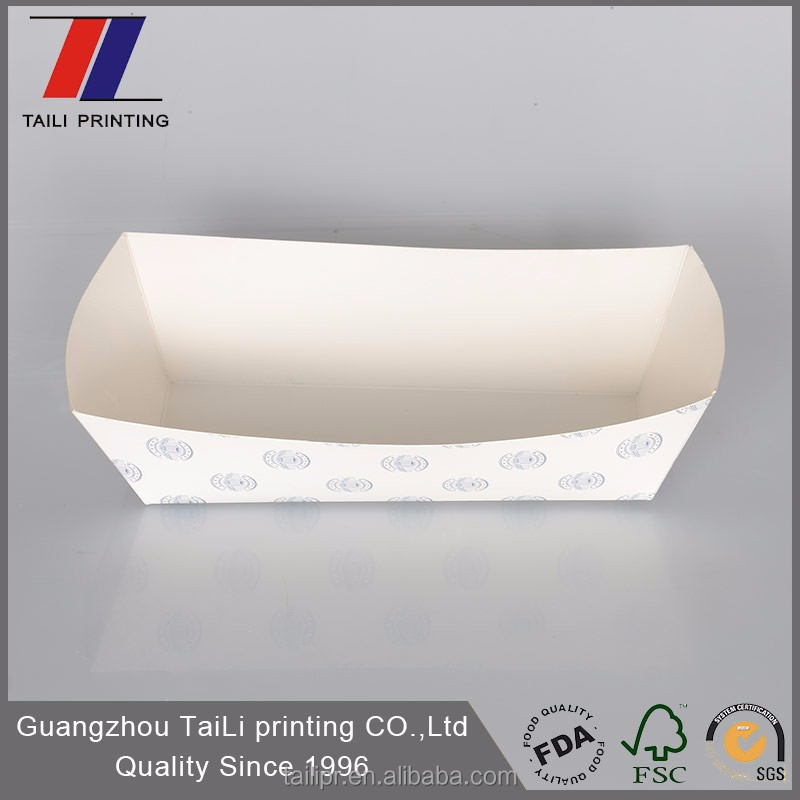 white disposable tray container blister packaging for hot dog