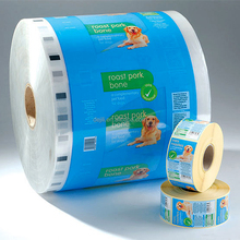 High Quality heat seal pet feed food packaging bag plastic Roll Stock with custom logo design printing