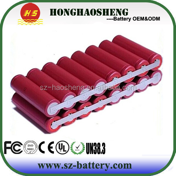 Heavy duty battery 5600mah 29.6v 8s2p 18650 li-ion battery pack