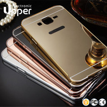 Mirror Aluminum metal bumper back cover case for Samsung galaxy On5 On7 a5 grand prime grand 2 g7106 s2 i9100 s3 mini note 3
