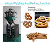 Factory supplier automatic weighing snacks pretzel packing machine for sale