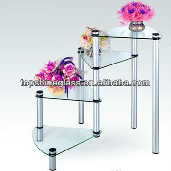 safety tempered console glass table