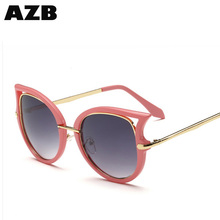 AZB Brand new sunglasses Novelty Cat eye Eyeglasses cool Mirror coating Sun Glasses with low price