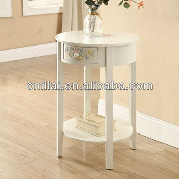 Wooden decorative table with drawers