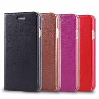 High Grade Leather Purse Wallet for iphone 6 case microfiber leather with card slots 2015 newest wholesale